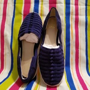 Elliott Lucca Suede Slip-on Woven Sandals:New